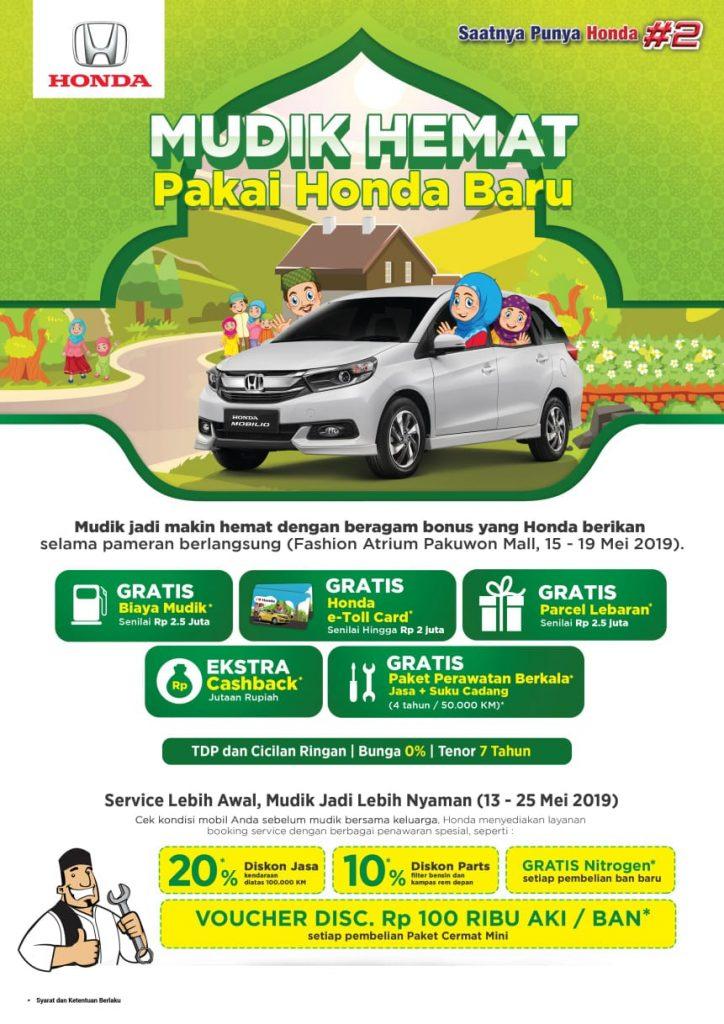 Promo Honda 2019 - Special Ramadhan Mudik Hemat Pakai Honda Baru & Dapat Lebaran kan Parcel |Update Mei 2019