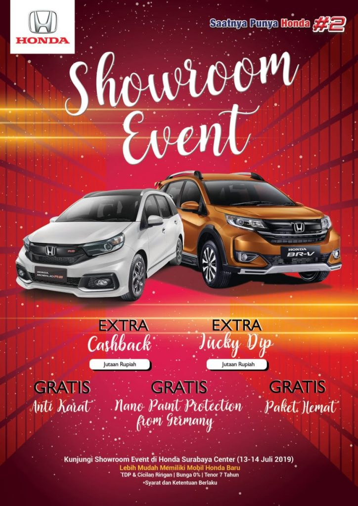 Showroom Event,Cash Back,Lucky Dip,Gratis Paket Hemat + Anti Karat,Gratis Nano Paint Protection