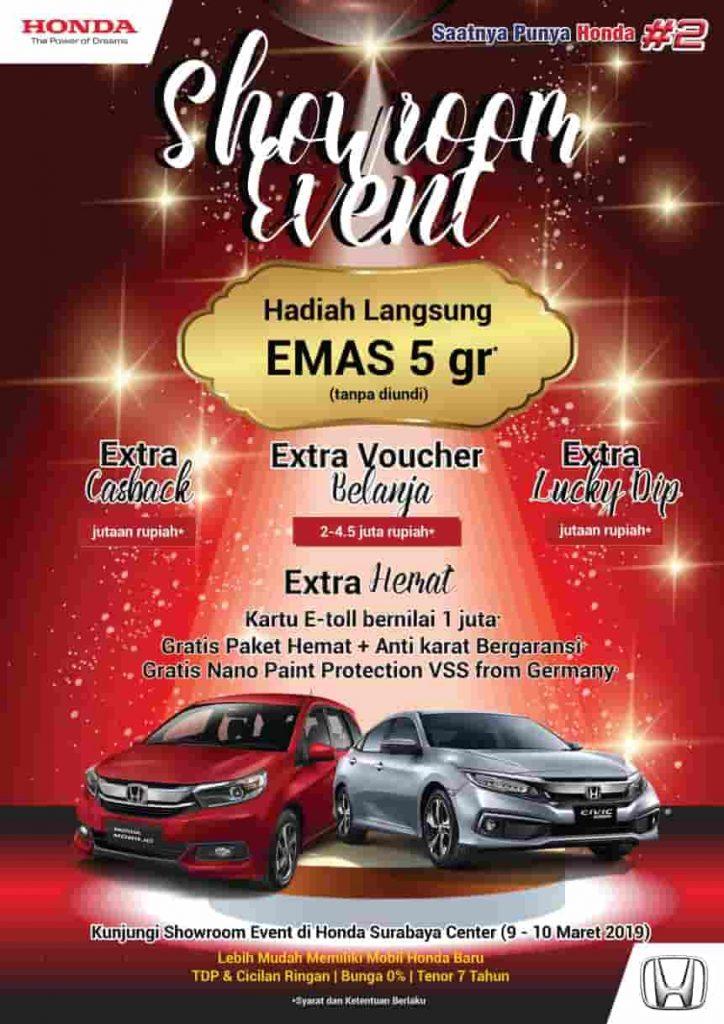 Honda Showroom Event - Hadiah Langsung Emas 5gr (Tanpa Di Undi)|Update Maret 2019