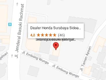 alamat lengkap dealer honda surabaya termurah center