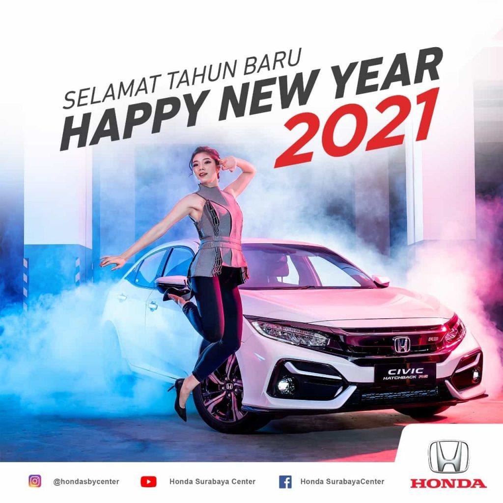 Happy New Year 2021 honda surabaya