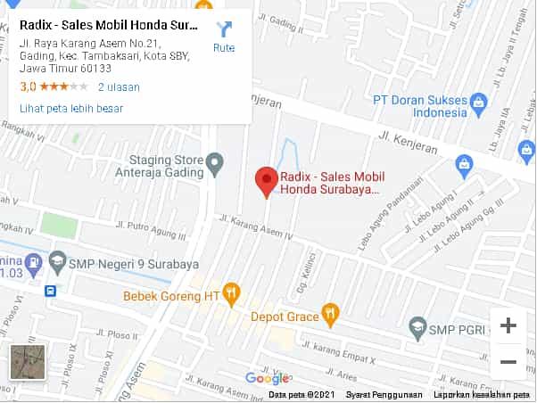 maps dealer honda surabaya radix surabaya
